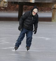 George Rigney of Congers skates on Congers Lake Jan. 21, 2019.
