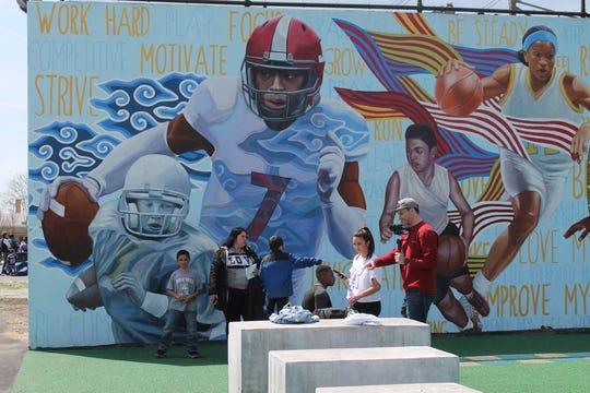 The Smith Rec mural in Philadelphia.