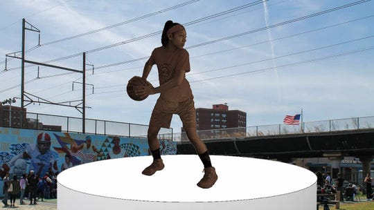 This spring, South Philly's Smith Recreation Center will become home to a life-sized bronze of a middleschooler playing basketball, frozen in a decisive moment as she guards the ball from opponents unseen.