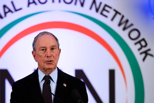 Former New York City Mayor Michael Bloomberg, speaks during a breakfast gathering commemorating the Martin Luther King Day in Washington, Monday, Jan. 21, 2019. (AP Photo/Manuel Balce Ceneta)