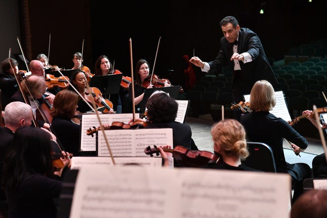 In this file photo, the Wichita Falls Symphony Orchestra performs a concert at Memorial Auditorium. The WFSO announced recently a delay in the 2020-2021 season due to pandemic concerns. A full 2021-2022 season is anticipated, including celebrating the organization's 75th anniversary.