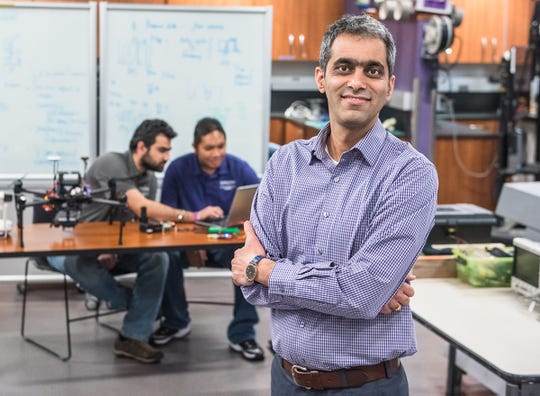 Ajay Sharda, Kansas State University assistant professor,  says goal of project is to develop a vision system to sense and identify presence of insects in order to conduct site-specific targeted chemical applications using autonomous robotic systems.