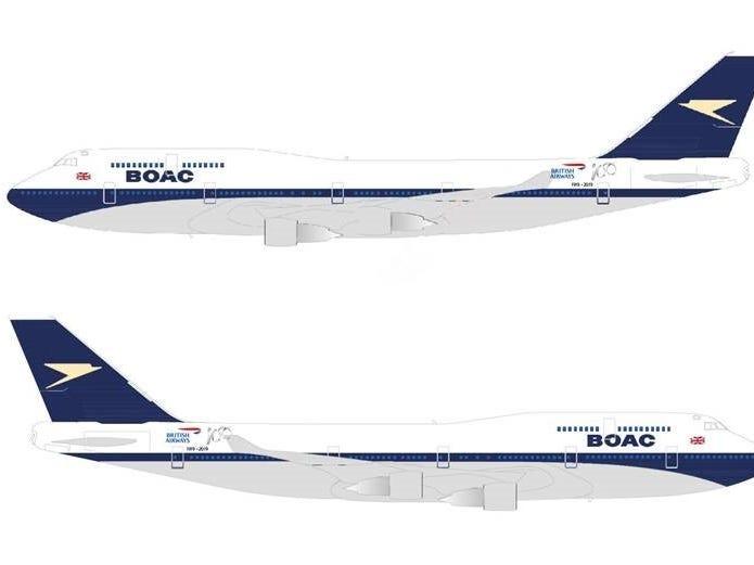 British Airways is giving one of its Boeing 747s a 1960s-era paint scheme