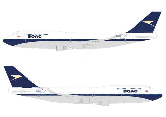 British Airways is giving a retro 'BOAC' makeover to one of its Boeing 747s.
