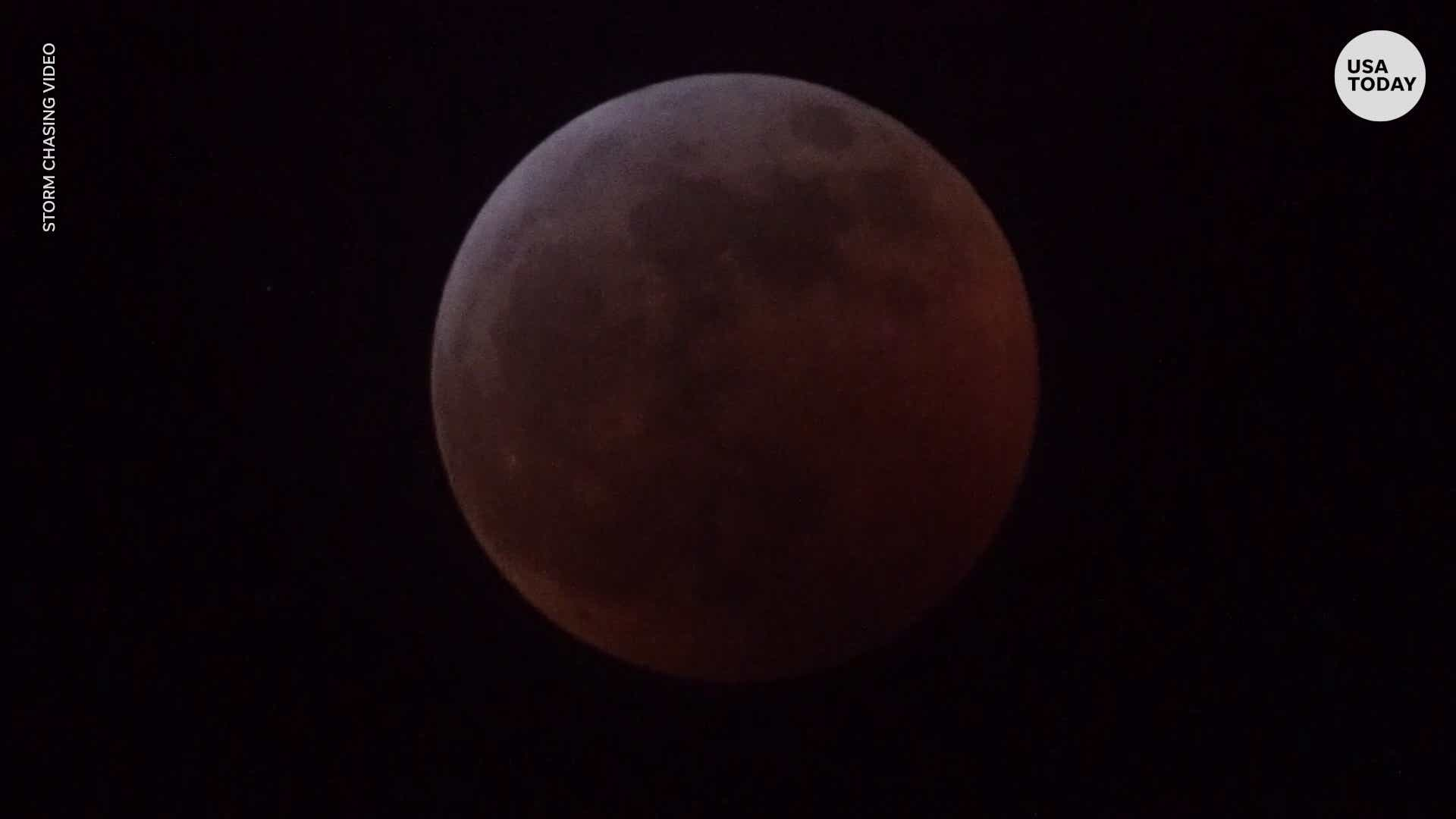 Time-lapse video of Super Blood Wolf Moon Lunar Eclipse
