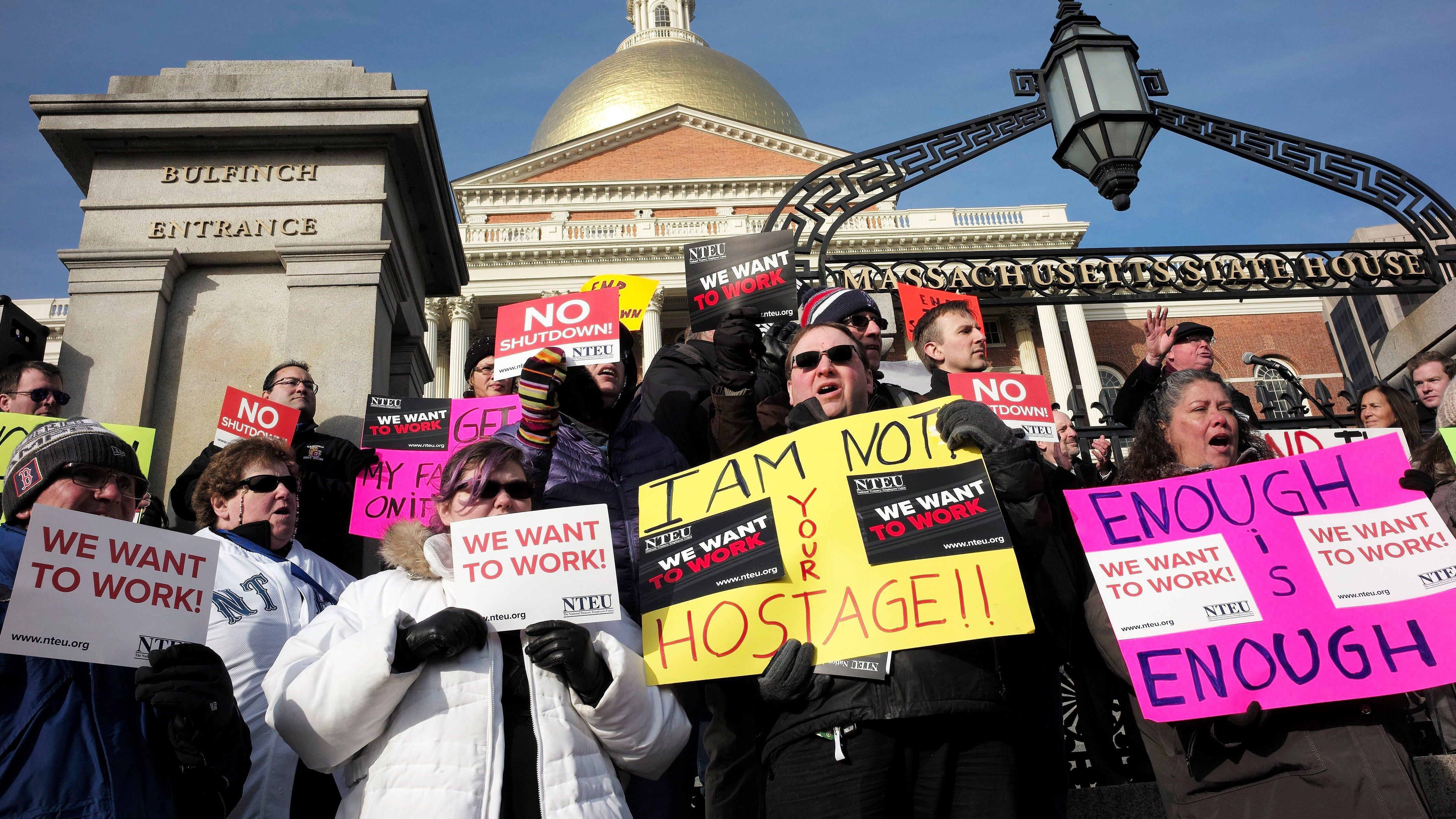 Protest in Boston on Jan. 20, 2019.