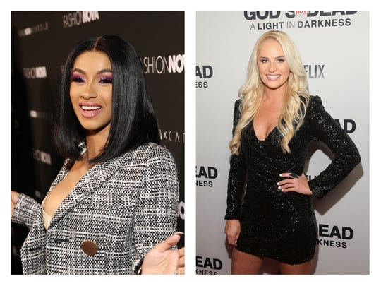 Cardi B and Tomi Lahren are feuding about President Trump.