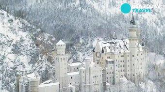 The Neuschwanstein Castle in Schwangau, Germany looks breathtaking in the winter snow.