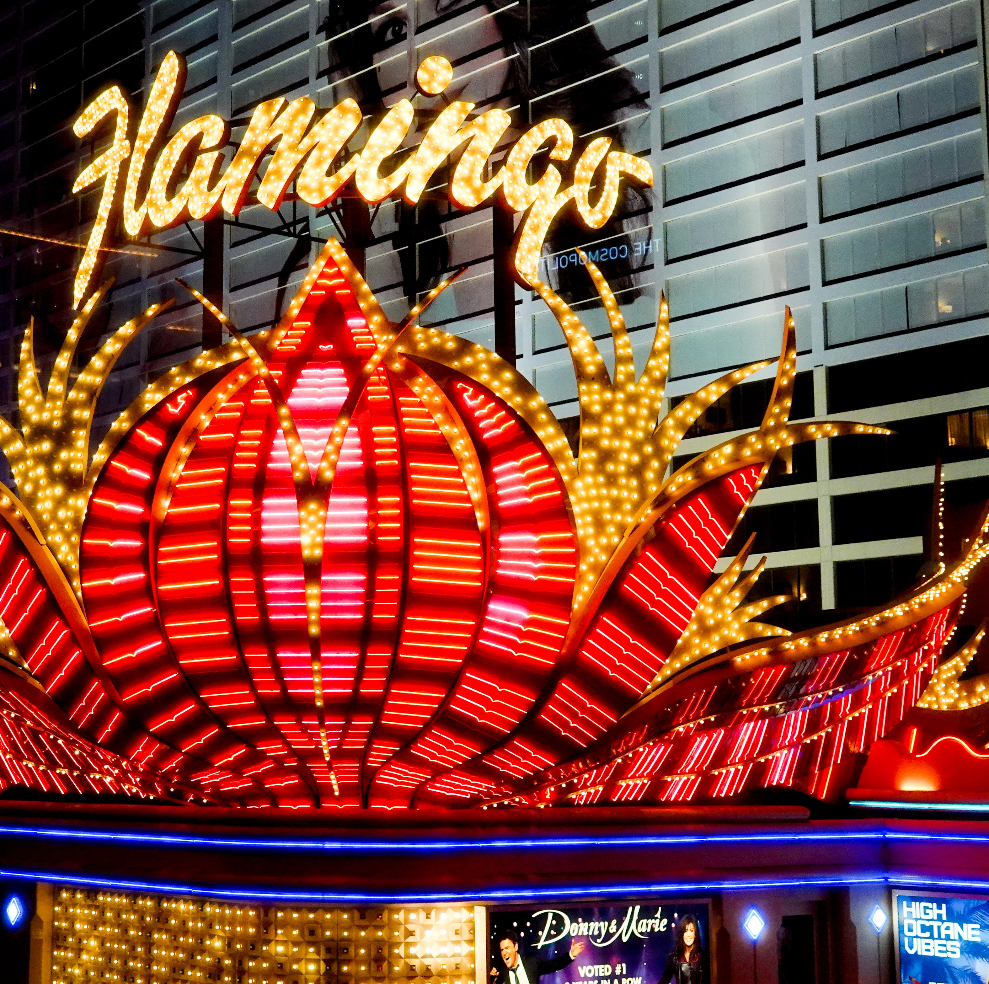 The Flamingo is one of the oldest hotels in Glitter Gulch, and the last example of classic neon on the Las Vegas Strip. Most of the other hotels have turned to LED lights and video screens. Join us on a photo tour in search of classic neon in Las Vegas.