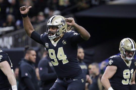 New Orleans Saints defensive end Cameron Jordan.