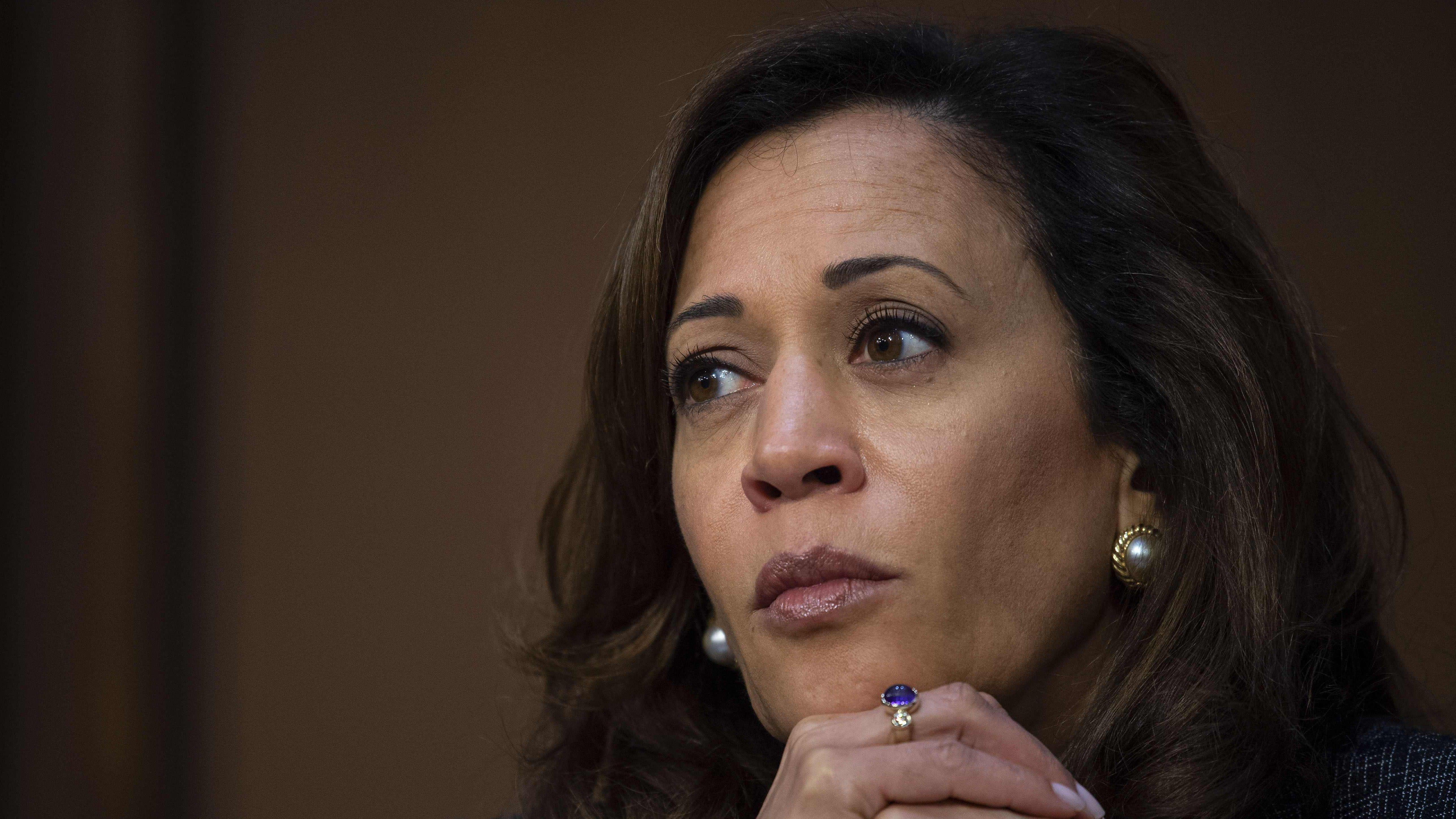 """California Sen. Kamala Harris announced her bid for president on """"Good Morning America."""""""