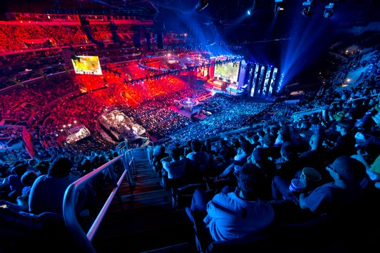 "The 2016 ""League of Legends"" Worlds at Staples Center in Los Angeles."