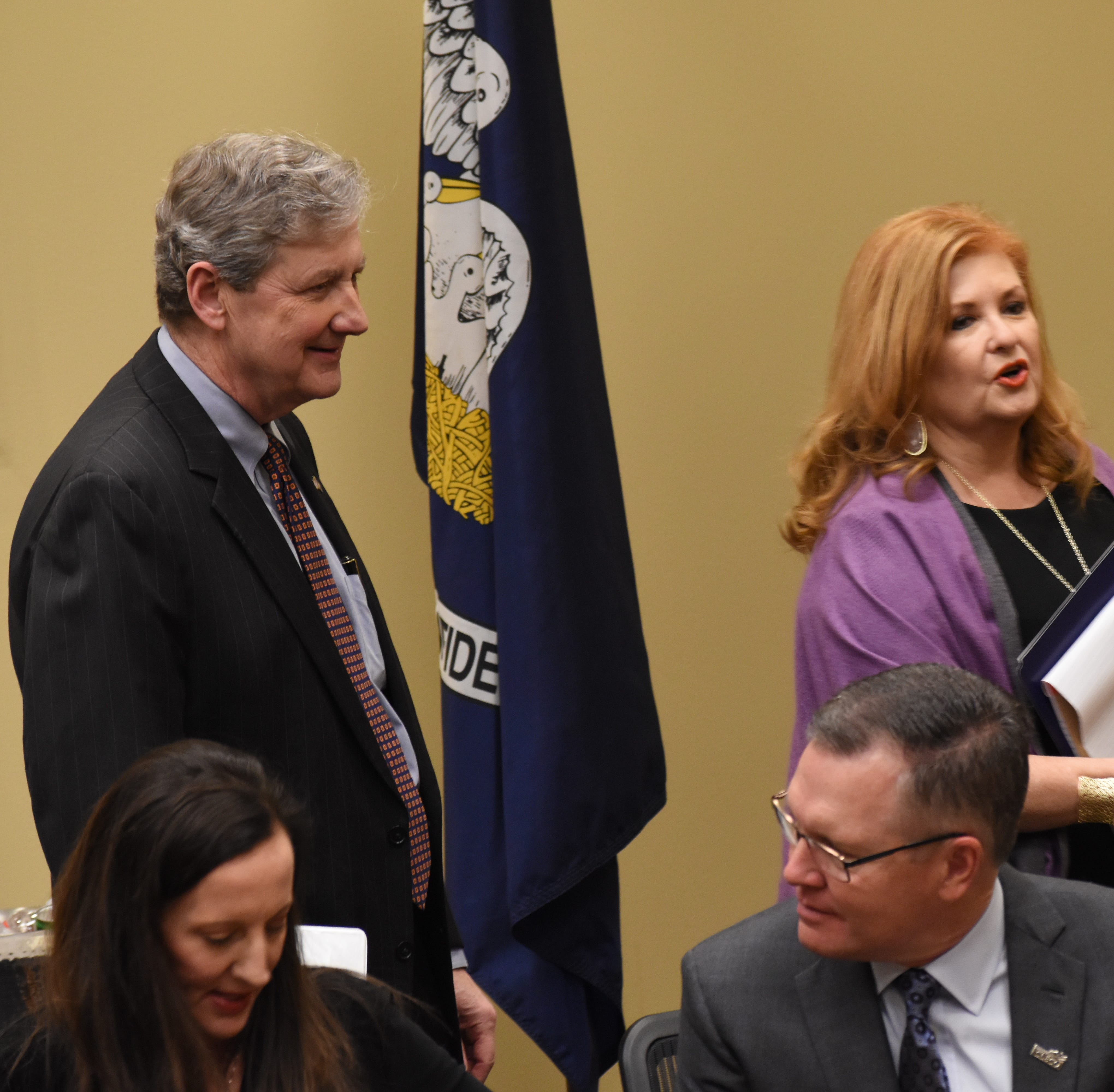 Sen. Kennedy provides update in Q&A with chamber members