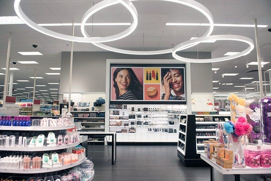 Target is remodeling 1,000 stores over the next two years. Here, a remodeled beauty department in Target's Gainesville, Virginia store.