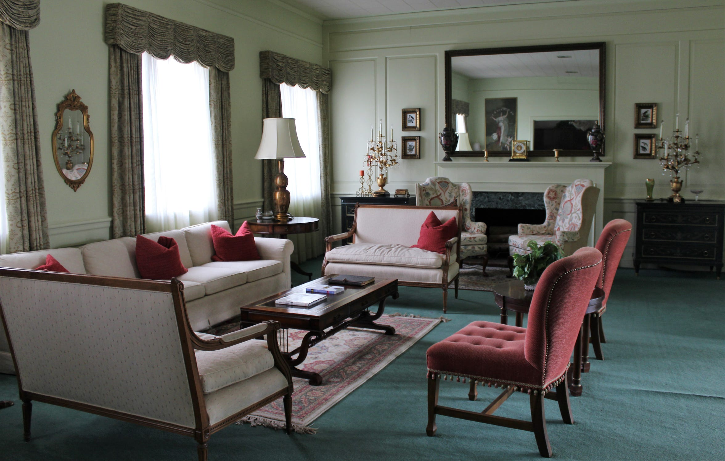 A sitting area at the Abilene Woman's Club. The organization has prided itself on its elegant appearance.