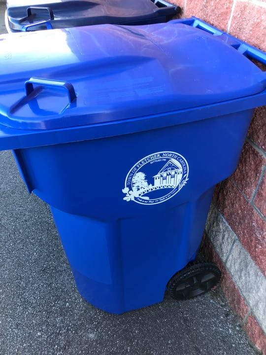 The Town of Fletcher is putting out new 95-gallon recycling bins in a phased rollout.