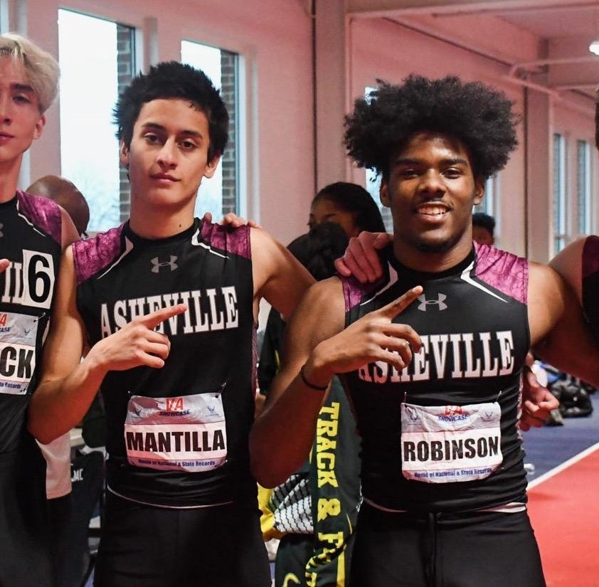 Asheville High relay team sets school record
