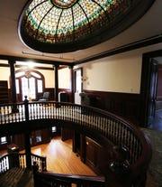 The interior stairway inside the Davidge Mansion in Binghamton.