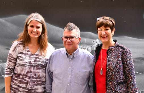 FLORIDA TODAY Executive Editor Bob Gabordi announced Jan. 22, 2019, that he will retire March 1. Bob (center) with News Director Mara Bellaby and USA TODAY NETWORK-Florida Regional Editor Cindy McCurry-Ross. Bellaby will become executive editor immediately following Gabordi's retirement.