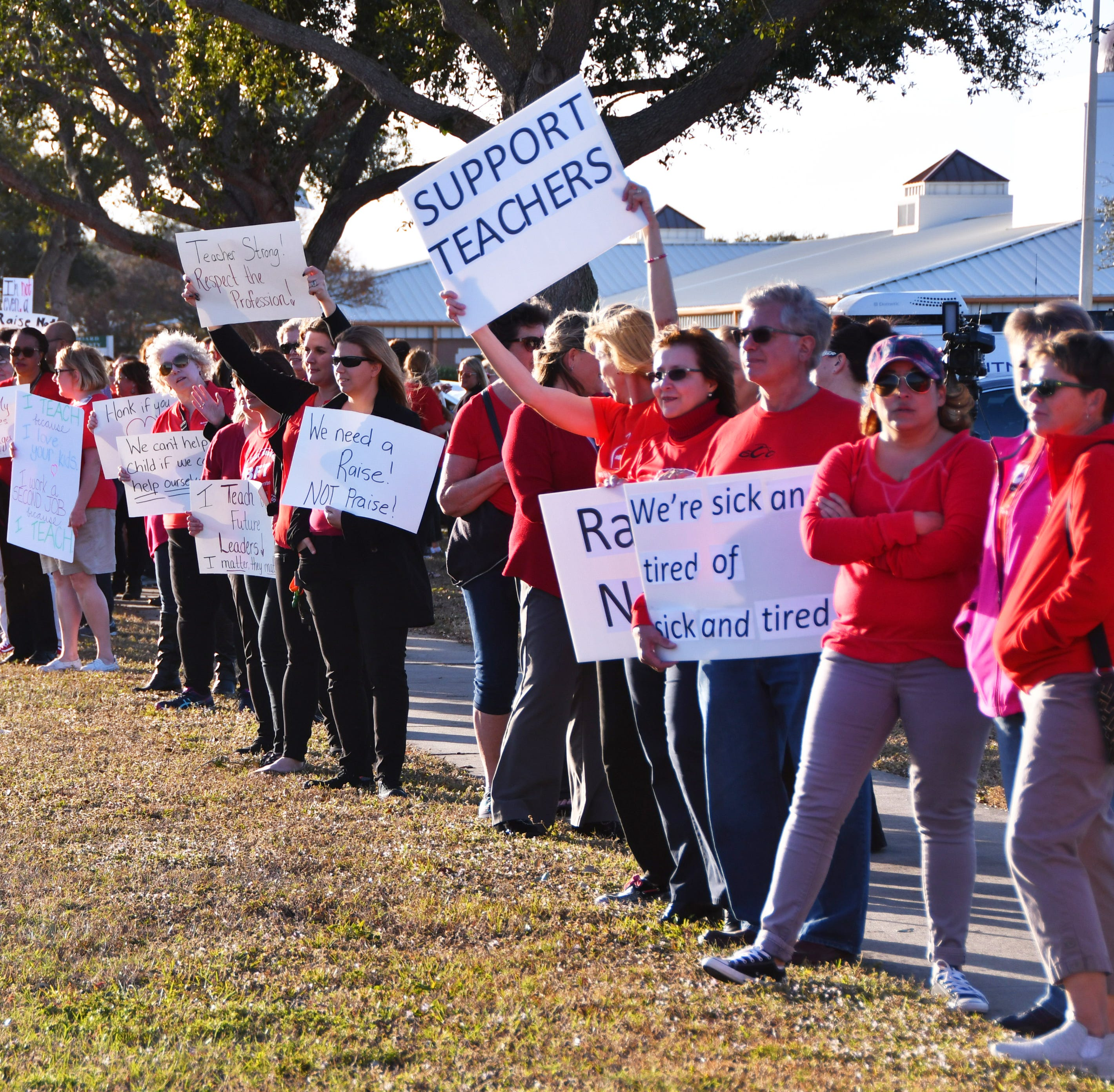 Brevard teachers union lowers request for raises, following months of protests