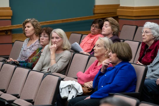 Residents attuned city council as the council heard a proposal to rezone the former Mount Carmel nursing home on Tuesday,  Jan 22, 2019.