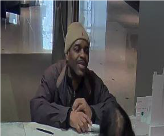 Evesham police say this man is wanted for cashing a fraudulent check for $1,500 at a TD Bank in Marlton on Jan. 3.