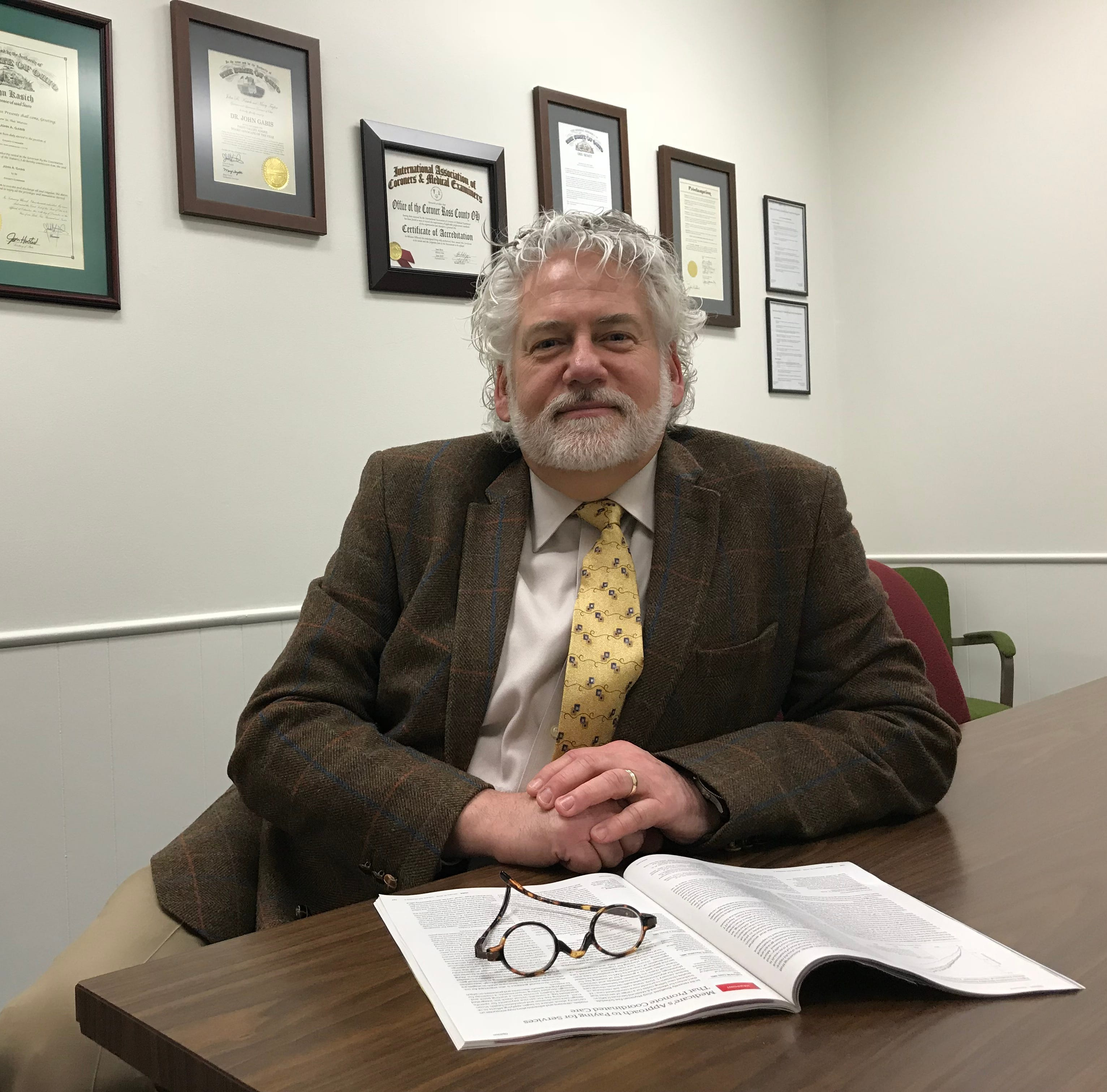Dr. John Gabis retires as Ross County coroner, will continue opiate fight despite fatigue