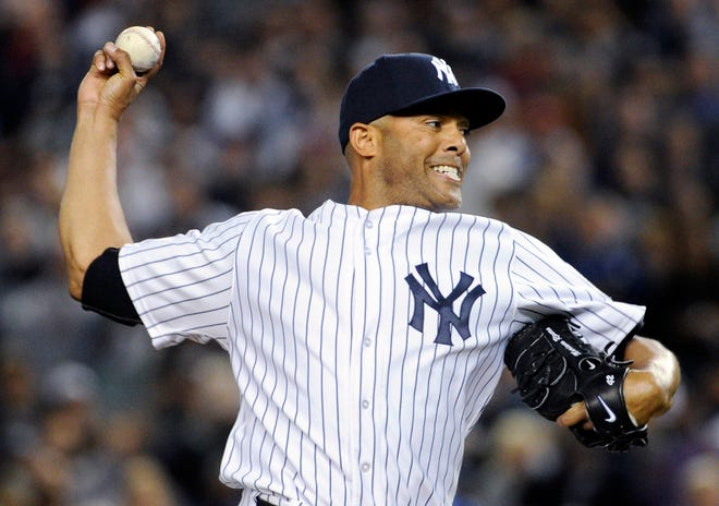 New York Yankees pitcher Mariano Rivera, who is retiring at the end of the season, delivers the ball to the Tampa Bay Rays during the eighth inning of a baseball game Thursday, Sept. 26, 2013, at Yankee Stadium in New York. Rivera was making his final appearance at home for the Yankees, who lost 4-0.