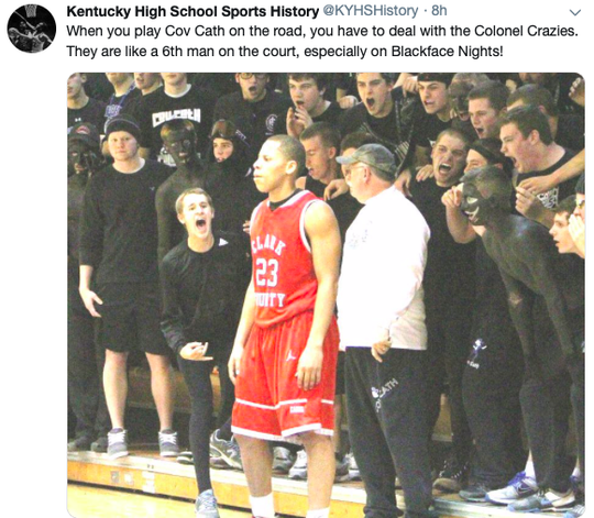 Past students at Covington Catholic painted their faces and bodies black for sporting events. Alumni point to school spirit. Others were made uncomfortable.
