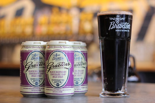 Graeter's and Braxton Brewing Company are relaunching Black Raspberry Chocolate Chip Milk Stout.