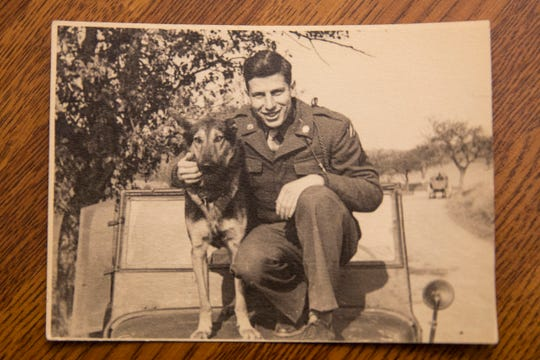 Provided photo of Dr. Al Miller and his dog, Tasso, taken in Germany during his time as an interrogator in the United States Army.