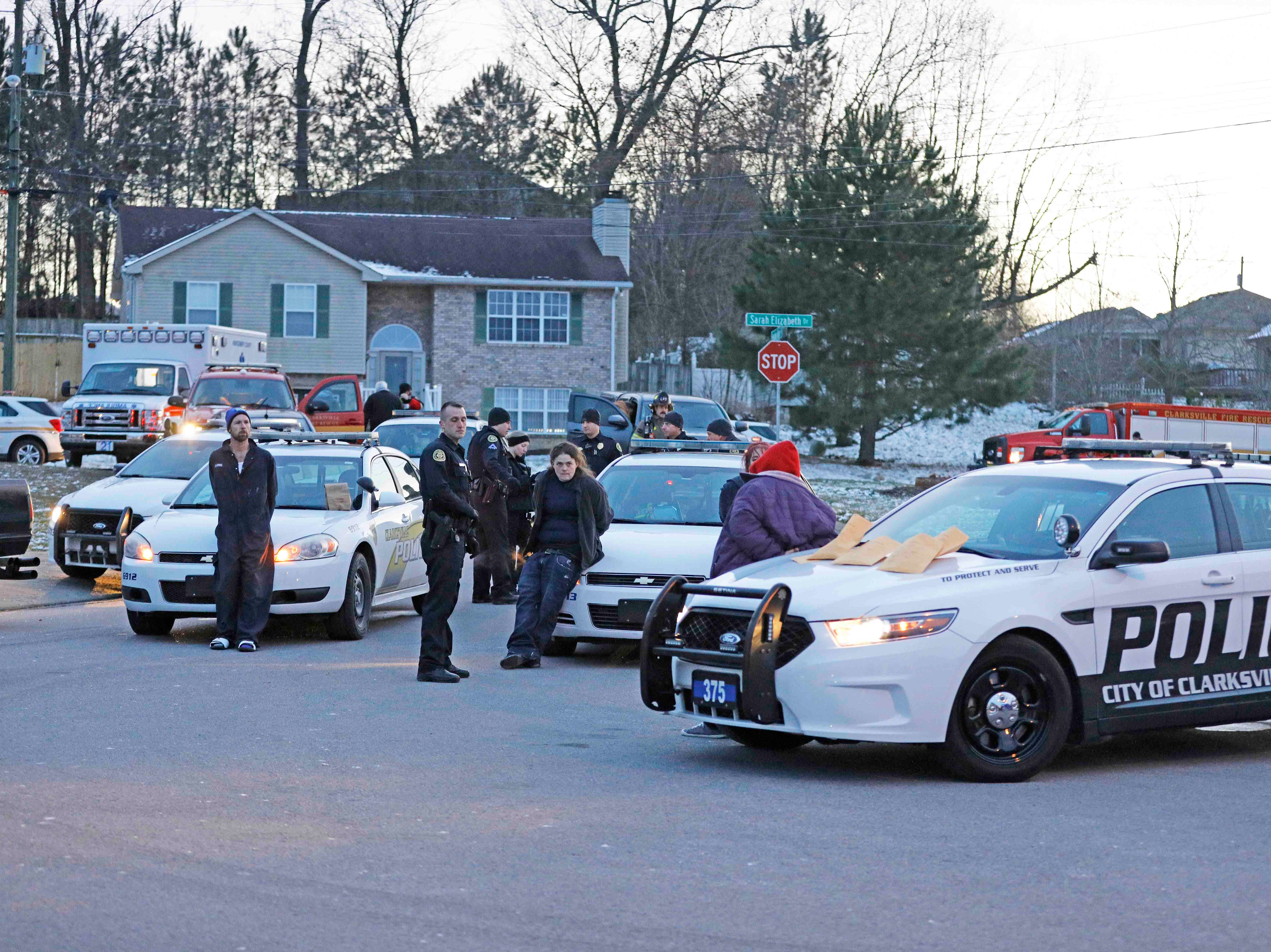 Clarksville Police and other emergency responders spent 10 hours cleaning up an active one-pot meth lab on Heather Denise Court on Monday, Jan. 21, 2019.