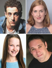 (Clockwise from top left) Cory Clark, Emma Jordan, Bryan Plummer and Kylan Elizabeth Ritchie star in CHARLOTTE'S WEB at the Roxy Regional Theatre, January 25 - February 9.