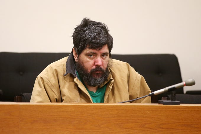 Vito Nigro of Woodbridge, who faces 27 years in prison for killing his ex-wife Giorgina Cimino Nigro in the home they still shared in 2015 and pleaded guilty to aggravated manslaughter in December, appears for his sentencing before Judge Colleen M. Flynn at Middlesex County Courthouse in New Brunswick, NJ Tuesday January 22, 2019.