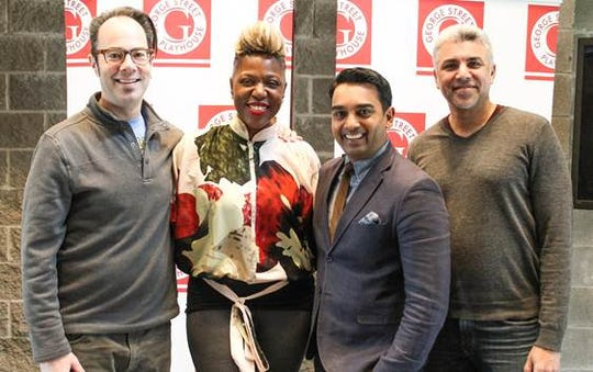 "From left, ""Little Girl Blue -- The Nina Simone Musical"" music director Mark Fifer, writer-star Laiona Michelle, director Devanand Janki, and bassist Saadi Zain."