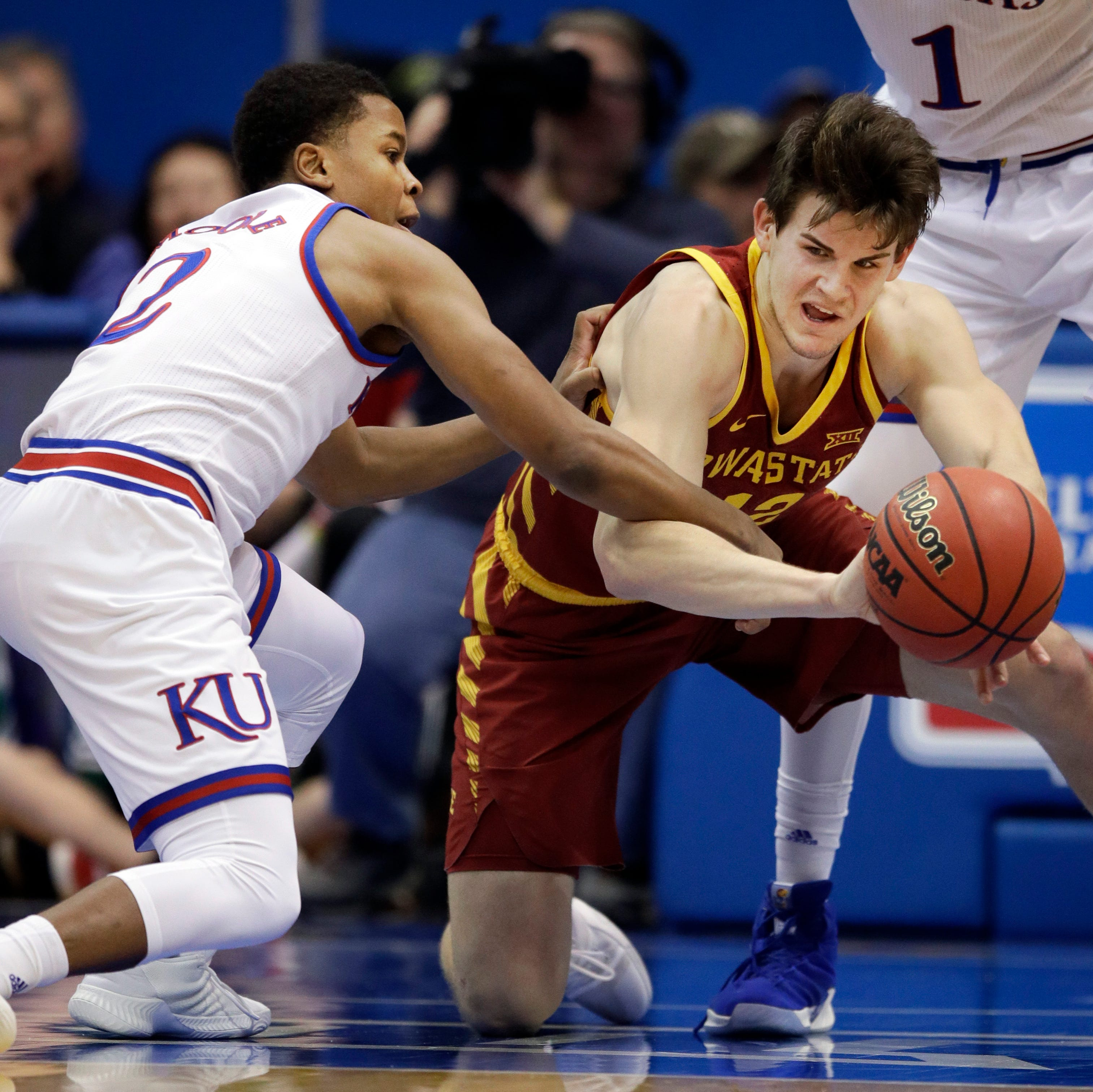Iowa State forward Michael Jacobson (12) passes...