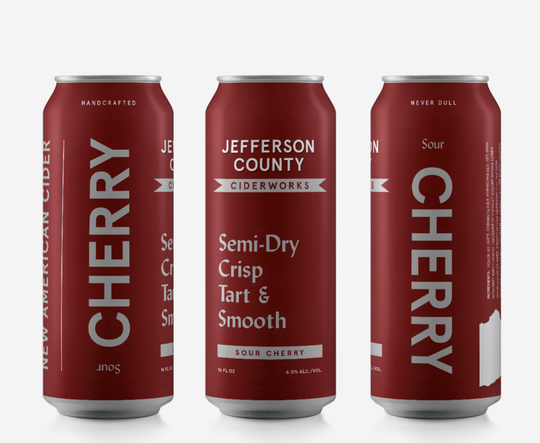 Oaked Sour Cherry from Jefferson County Ciderworks.