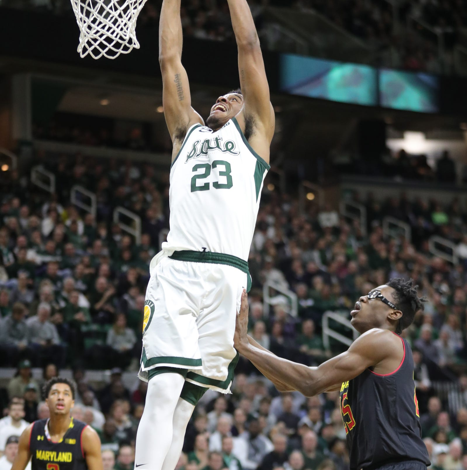 No. 6 Michigan State stays perfect in Big Ten, defeats No. 13 Maryland