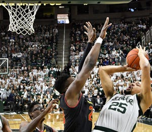 Kenny Goins leads MSU with 9.4 rebounds a game.
