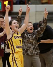 Central Michigan head coach Sue Guevara has been helped by the return of guard Presley Hudson (3), who is averaging 20.8 points per game.