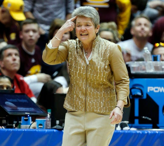 Sue Guevara is in her 12th season as the Central Michigan women's basketball coach.