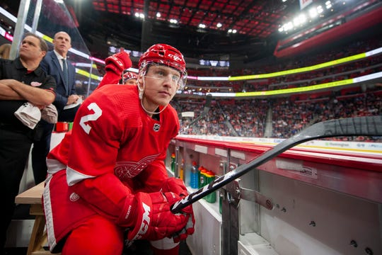 Red Wings defenseman Joe Hicketts            has played in 13 NHL games, registering three assists.