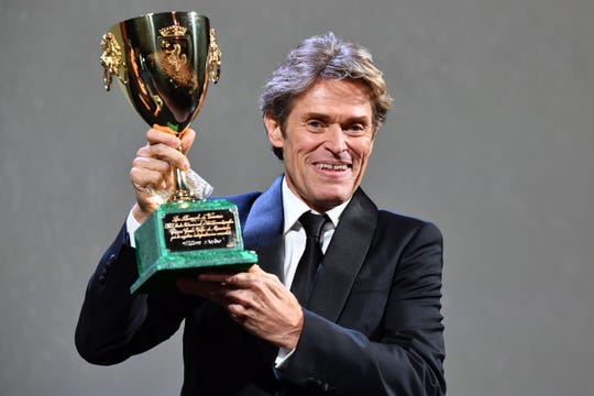 "Actor Willem Dafoe receives the Coppa Volpi for Best Actor in the movie ""At Eternity's Gate"" during the awards ceremony of the 75th Venice Film Festival on September 8, 2018 at Venice Lido."