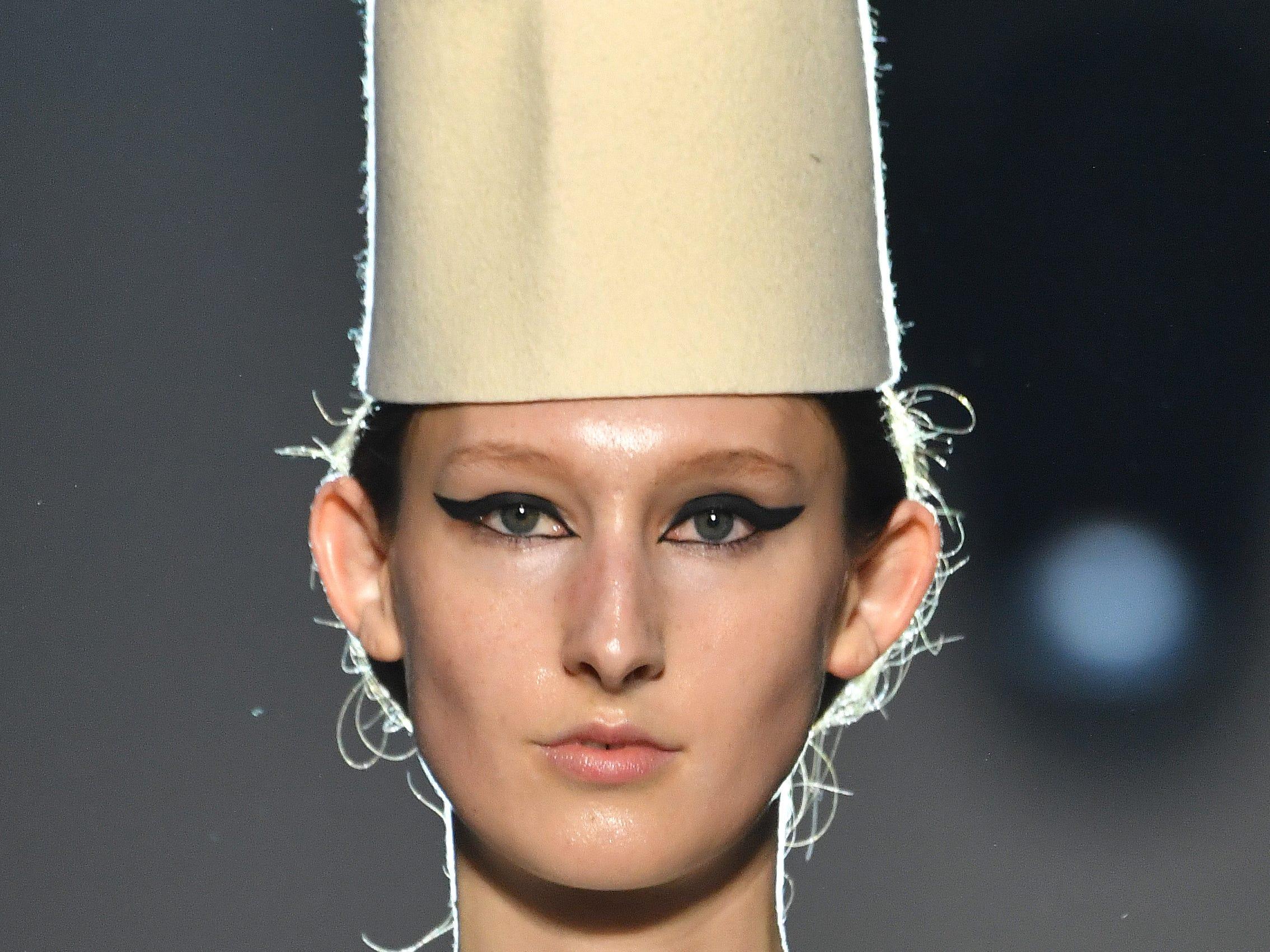 A model walks the runway during the Giambattista Valli Spring Summer 2019 show as part of Paris Fashion Week on Monday, Jan. 21, 2019.