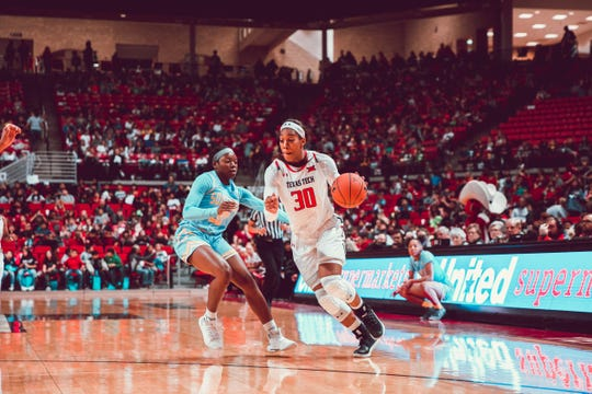 Texas Tech senior Zuri Sanders is averaging 12.2 rebounds per game to lead the Big 12. She ranks eighth nationally.