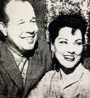 Budd Boetticher poses with wife and actress Debra Paget. She left him after 19 days.