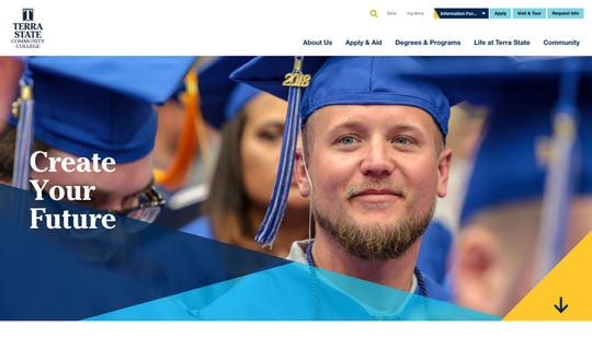 Terra State Community College debuted its new website rebuild last week, with hopes the streamlined site will boost new student applications and draw more outside online visitors.