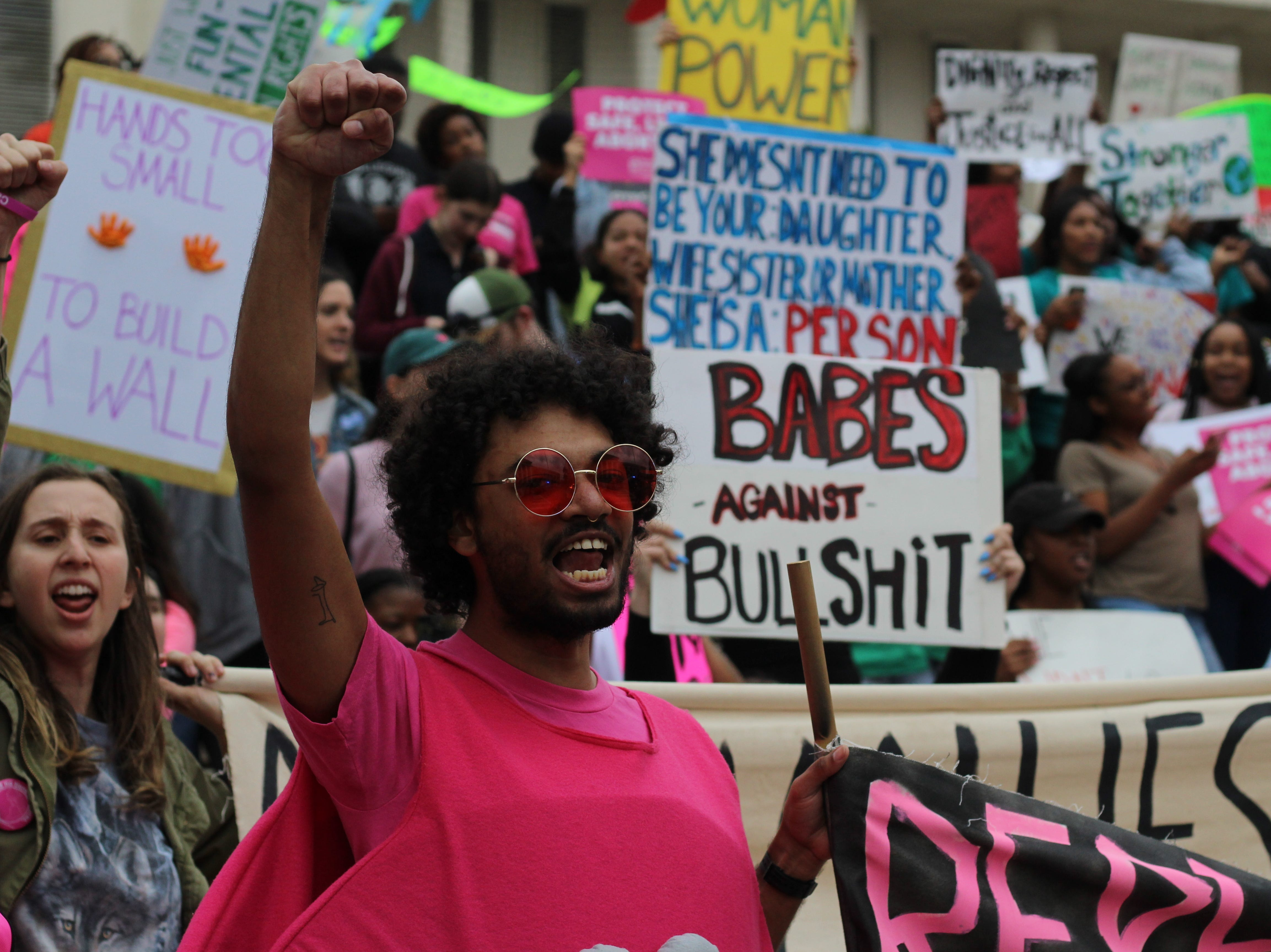 Community members gather for Tallahassee's Women's March on Jan. 19 to advocate for women's rights.
