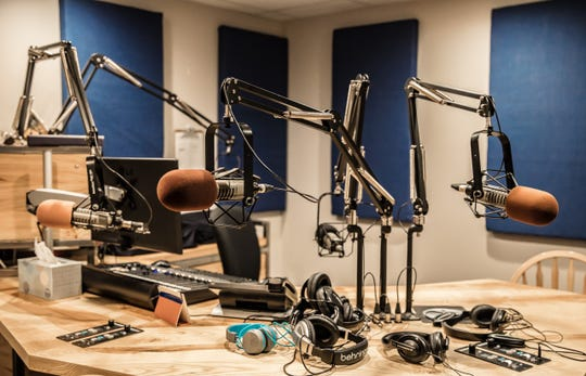 Inside a studio at KRFC 88.9 FM Radio Fort Collins.