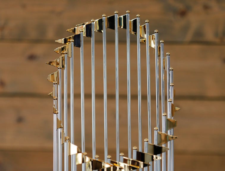 The Boston Red Sox brought their World Series trophy for a public display at the Tropical Smoothie restaurant located at 13111 Paul J Doherty Pkwy, Fort Myers, Tuesday, January 22, 2019. The trophy was brought in around 3pm and was only expected to be there about one hour.